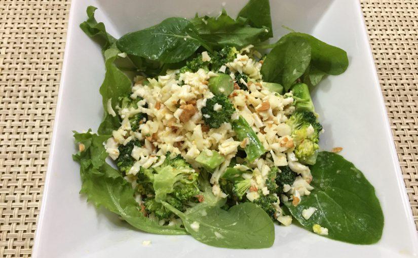 「焼ブロッコリーと生カリフラワーのアーモンドサラダ」を作ってみました。〜フィリップス・マルチチョッパー〜