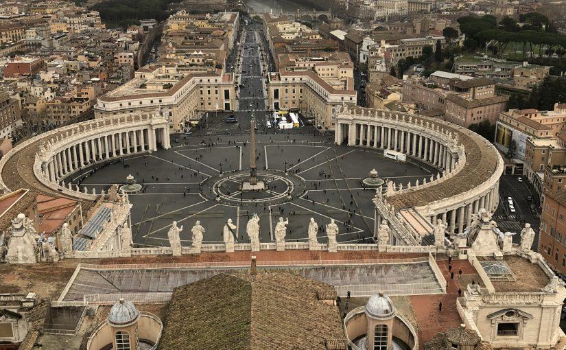 イタリア🇮🇹ローマ旅行記7〜サン・ピエトロ大聖堂とクーポラ頂上からの眺め♪〜